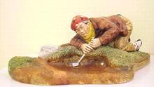 1976 Congleton  Statue Golfer BUNKERED