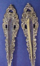 ORNATE SERVING MEAT  FORK & SPOON
