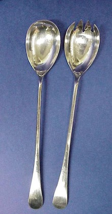 Elegant  Silver Plated 2 Pc.Salad Serving Set
