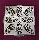 Old English Silver Fretwork TRIVET