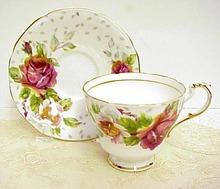 Paragon Tea Cup & Saucer - Golden EMBLEM