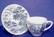 Lovely Wedgwood Tea Cup & Saucer - Blue Transfer