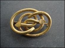 BEAUTIFUL ORIGINAL BROOCH Gold Top