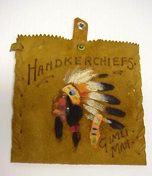 30's Native Suede Pouch Handkerchiefs
