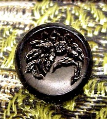Victorian French Black Jet BUTTON