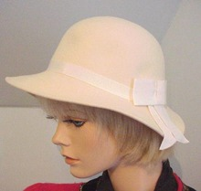 60's Winter White Felt Hat