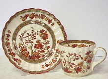 Copeland-Spode Teacup & Saucer Brown Transfer