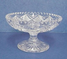 Brilliant Cut Glass Pedestal COMPOTE