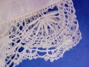 Wedding Hanky Bobbin Lace Border