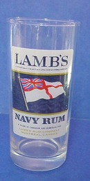 Lovely Lamb's Navy Rum - Tall Glass
