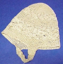 Antique Crocheted Silky Baby Hat