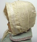 Antique Silk Doll Hat Bonnet