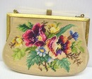 Belgian Needlework Floral PURSE