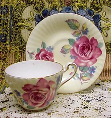 Fascinating Paragon Cup and Saucer CORAL ROSE