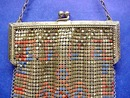 WHITING & DAVIS FLAPPER  PURSE