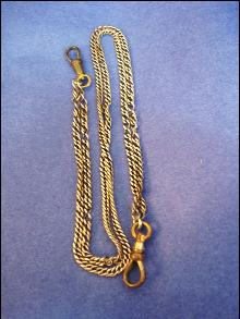 Antique Watch Chain - Silver Tone