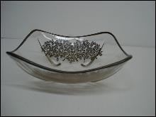 Antique Silver Overlay Dish - Art Deco Style