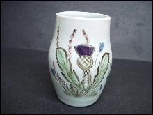 Buchan Portobello Vase Scotland -Thistle