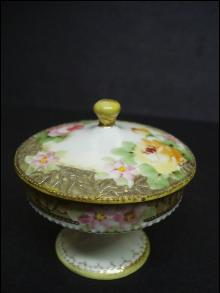 Antique Nippon Pedestal Box