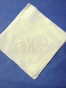 Antique Hanky Monogram H