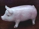 Porcelain Pink PIG - BANK
