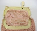 20's Celluloid Frame Crocheted PURSE