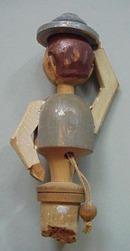 Hand Carved  Anri type Bottle Stopper