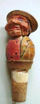 Hand Carved  Anri type Bottle Stopper #2