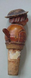 Hand Carved  Anri type Bottle Stopper #2