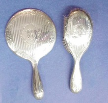 BIRKS Sterling MIRROR & BRUSH