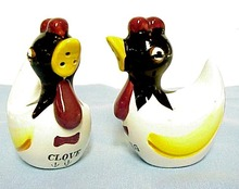 Figural Nutmeg&Clove Shakers