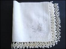 Wedding Handkerchief Tatting Lace Hanky