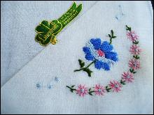 Irish Handloom Embroidery Handkerchief