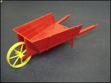 Toy Red Wheelbarrow - Hard Plastic