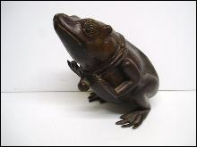 Large Bronze Frog Statue