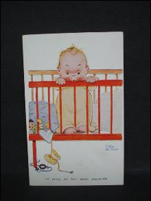 Postcard by Mabel Lucie Attwell Signed - Genuine Valentine's Attwell