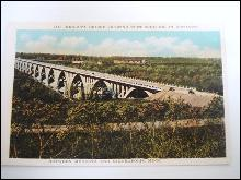 Real Phot Mendota Bridge Showing Fort Snelling in Distance
