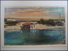 Real Photo Postcard - Ford Plant and Power House on Mississippi River