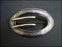 Sterling Silver Sash Brooch Pin - Edwardian
