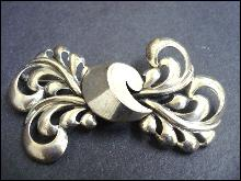 Nouveau Style Brooch Sterling Bow by Monet