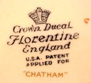 Crown Ducal PLATE  - CHATHAM -  #4
