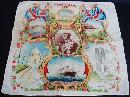 Commemorative Royalty Hankie Hanky Handkerchie English 1937 Coronation f