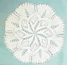 Lovely Snow White Knitted Doily