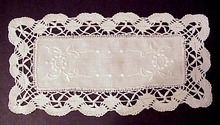 Snow White Doily Bobbin Lace Edge