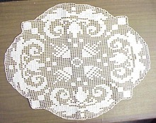 Crochet  Filet Lace Doily