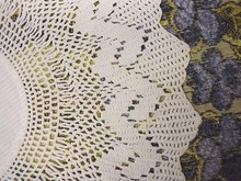 Victorian Crocheted  Filet Lace Doily