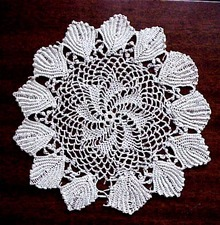Superb Figural  Lace Doily