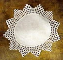 Crocheted Lace & Linen Doily