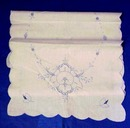 Embroidery/Cutwork  Linen Runner