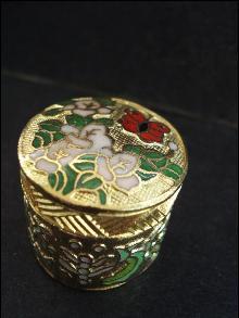 Vintage Cloisonne Pill Box